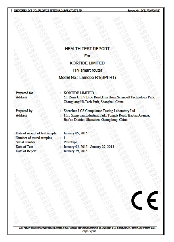 Banana Pi Bpi R1 Cefcc Certificatebanana Pi A Highend Single